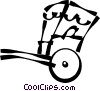 Vector Clip Art picture  of a rickshaw