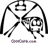 Vector Clip Art graphic  of a subway