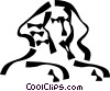 Vector Clip Art image  of a sphinx