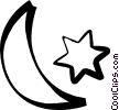 Vector Clip Art graphic  of a moon