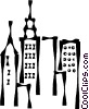 Vector Clip Art graphic  of a cityscape