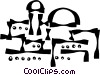 desert buildings Vector Clipart image