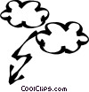 thunder clouds Vector Clipart picture