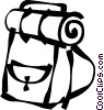 Vector Clip Art picture  of a knapsack