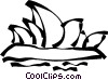 Vector Clip Art picture  of a Sydney Opera House