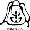 knapsack Vector Clipart graphic