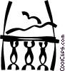 Vector Clip Art image  of a balcony
