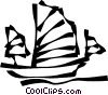 Vector Clip Art picture  of a Chinese junk
