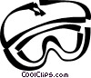 Vector Clipart picture  of a goggles