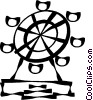 Vector Clip Art picture  of a Ferris wheels