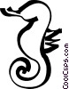 Vector Clipart image  of a sea horse