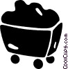 Vector Clip Art picture  of a cart full of coal