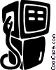 Vector Clipart graphic  of a gasoline pump