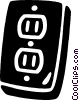 wall sockets Vector Clip Art graphic