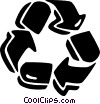 recycle symbol Vector Clipart illustration