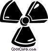 Vector Clip Art image  of a radioactive sign