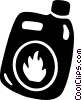 flammable liquid Vector Clipart illustration