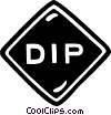 Vector Clip Art image  of a dip sign