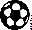 Vector Clip Art picture  of a soccer ball