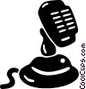 Vector Clip Art graphic  of a microphone
