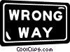 road sign, wrong way Vector Clipart graphic