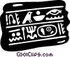 Vector Clip Art picture  of a hieroglyphics