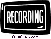 recording sign Vector Clipart illustration