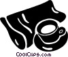 Vector Clipart picture  of a coffee and newspaper