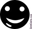happy face button Vector Clipart illustration