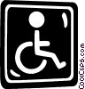 Vector Clipart image  of a handicap sign