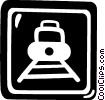 train sign Vector Clip Art image