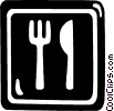 restaurant sign Vector Clip Art graphic