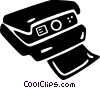 Vector Clip Art graphic  of a Polaroid camera