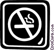 Vector Clipart image  of a no smoking sign