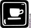 Vector Clipart graphic  of a coffee sign