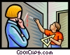 Vector Clip Art image  of a children at school
