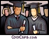 Vector Clip Art picture  of a graduation day