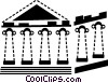 Parthenon Vector Clipart graphic