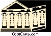Vector Clip Art graphic  of a Parthenon