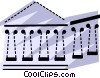 Vector Clipart picture  of a Parthenon