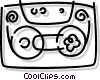 Vector Clipart illustration  of a cassette tape