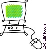Vector Clipart graphic  of a personal computers