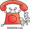 home telephones Vector Clipart image