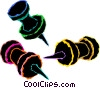 pushpins Vector Clip Art graphic