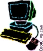 personal computers Vector Clip Art picture