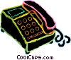office phones Vector Clip Art picture