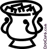 Vector Clip Art image  of a ice pail