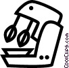 Vector Clipart illustration  of a electric mixer