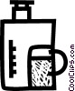 Vector Clipart illustration  of a coffee pot/maker