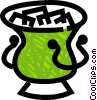 Vector Clip Art graphic  of a ice pail